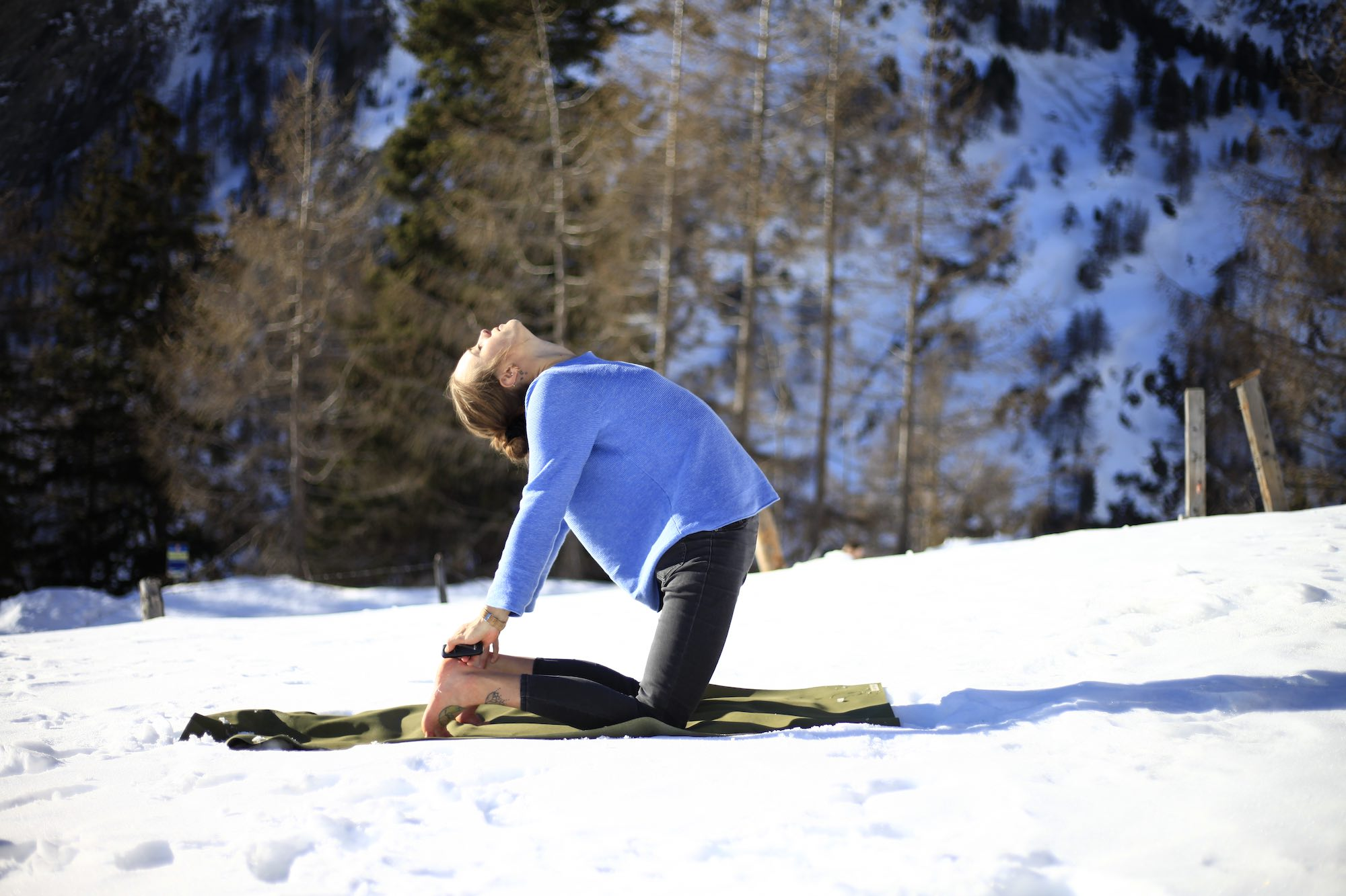 yoga, snoga, camel pose, intention, health, well being