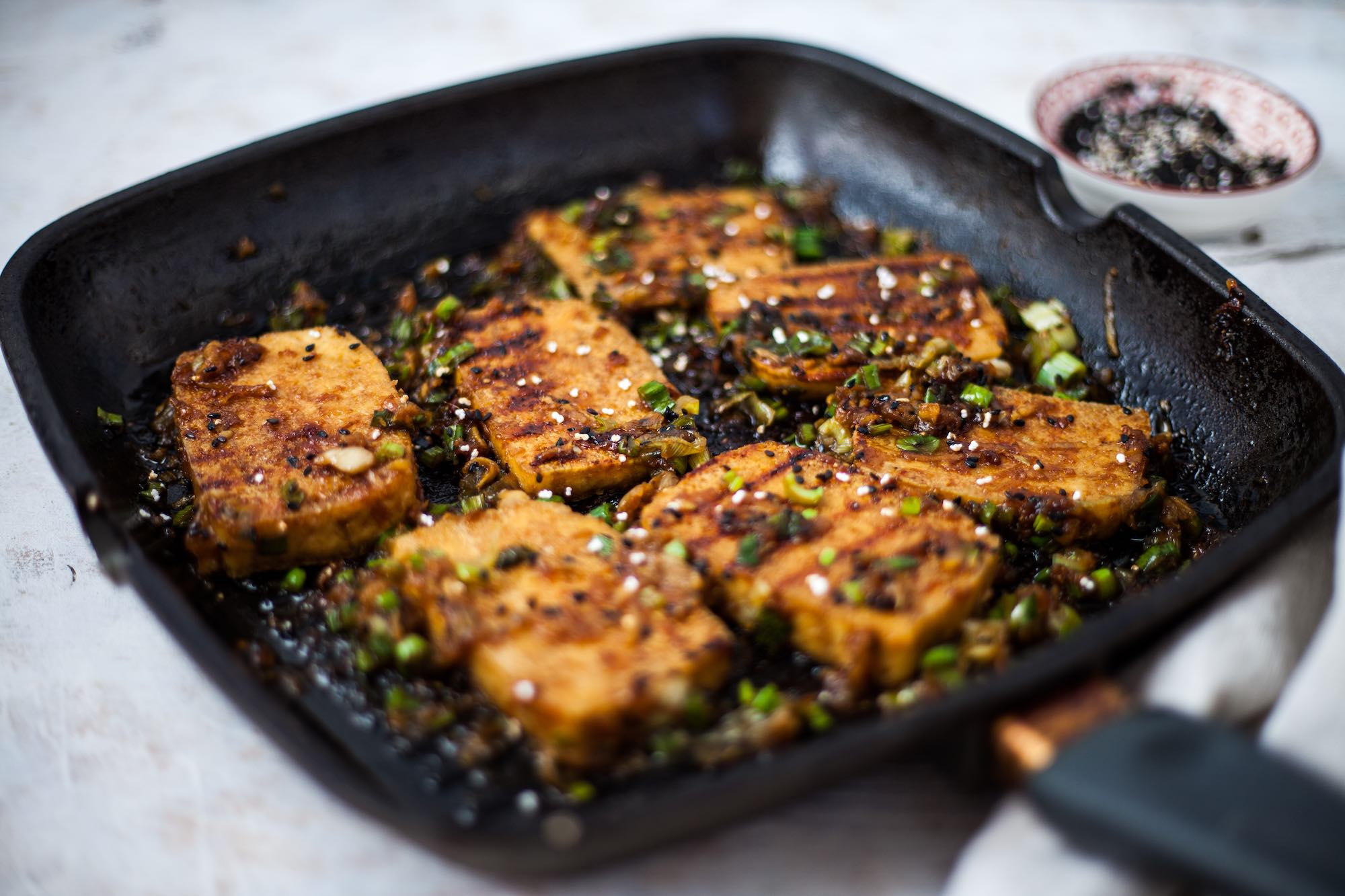 Soy ginger pear braised tofu recipe