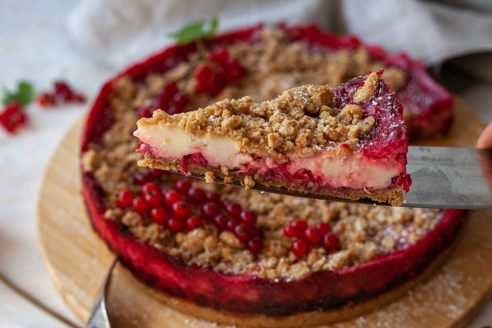 Vegan Red Currant Cheesecake
