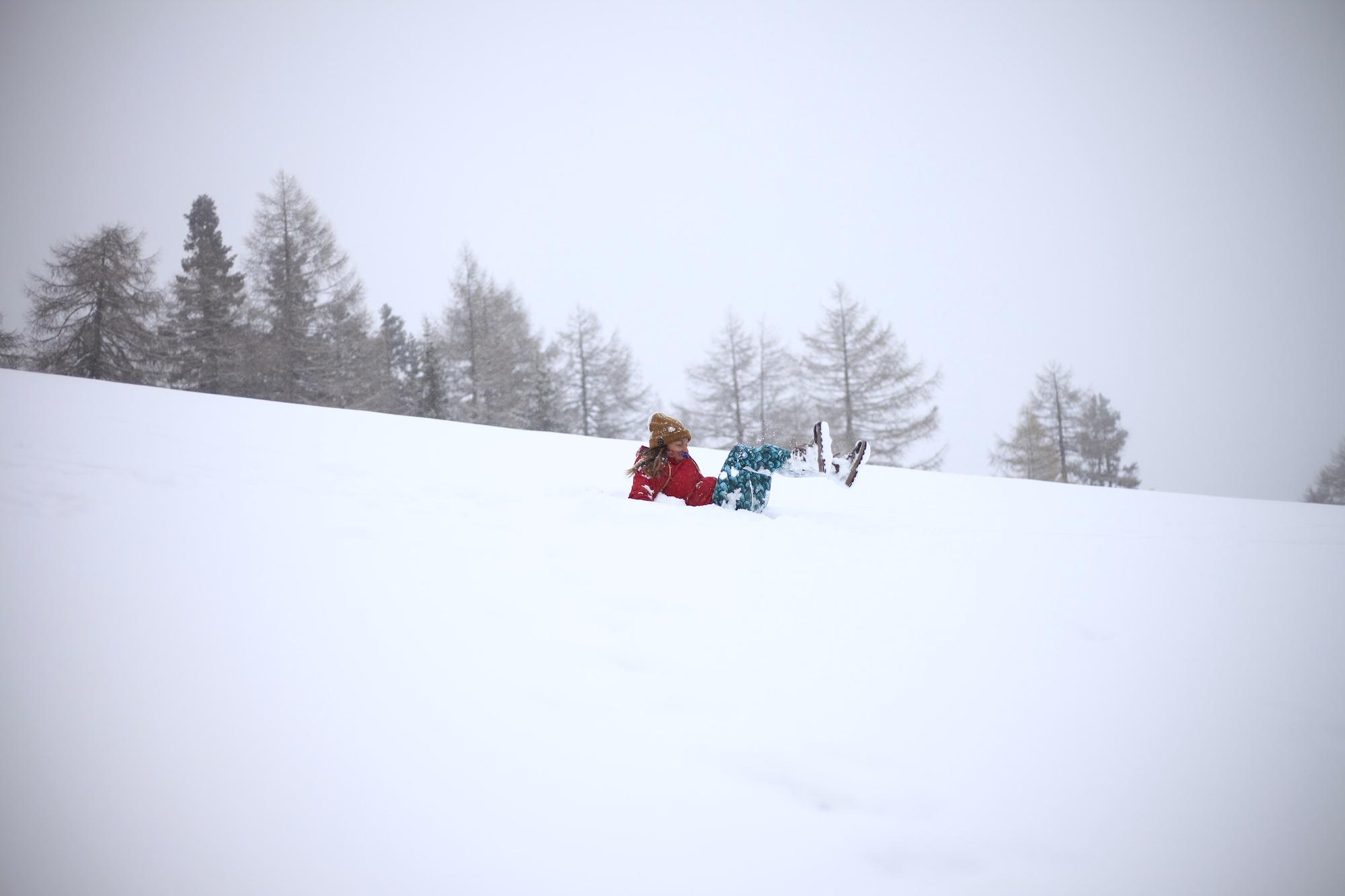 Snow day European Alps Austria