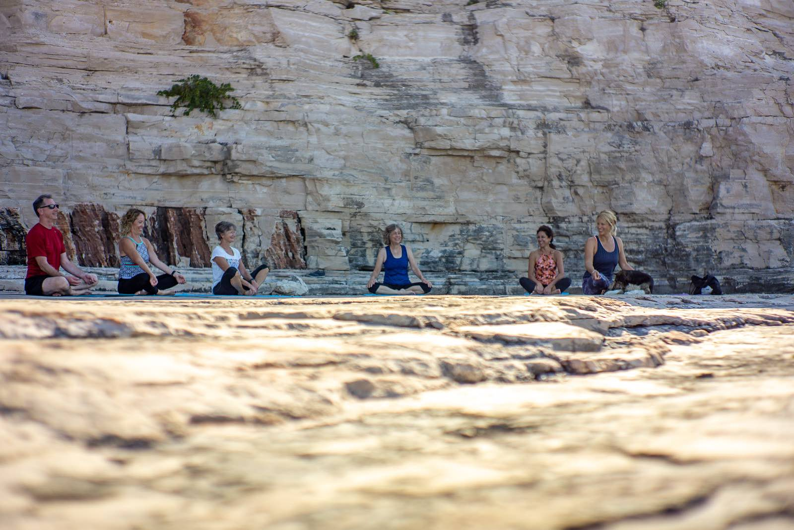 Yoga by the sea Vis Island, Croatia