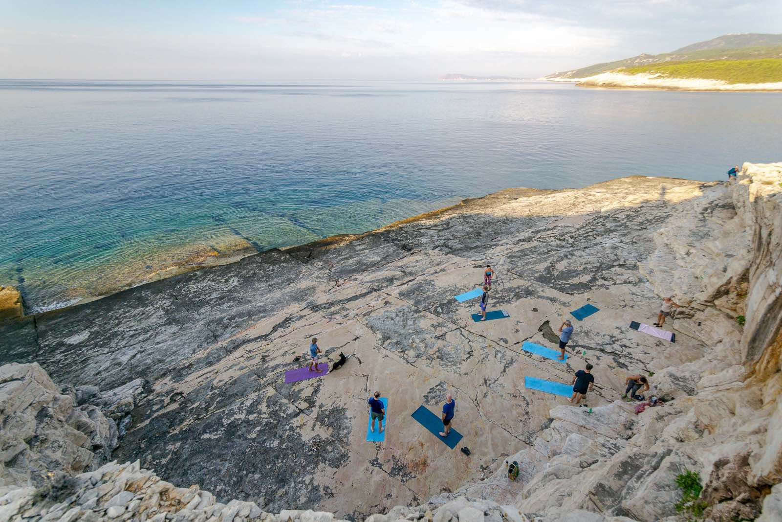 Yoga by the sea on Vis Island Croatia