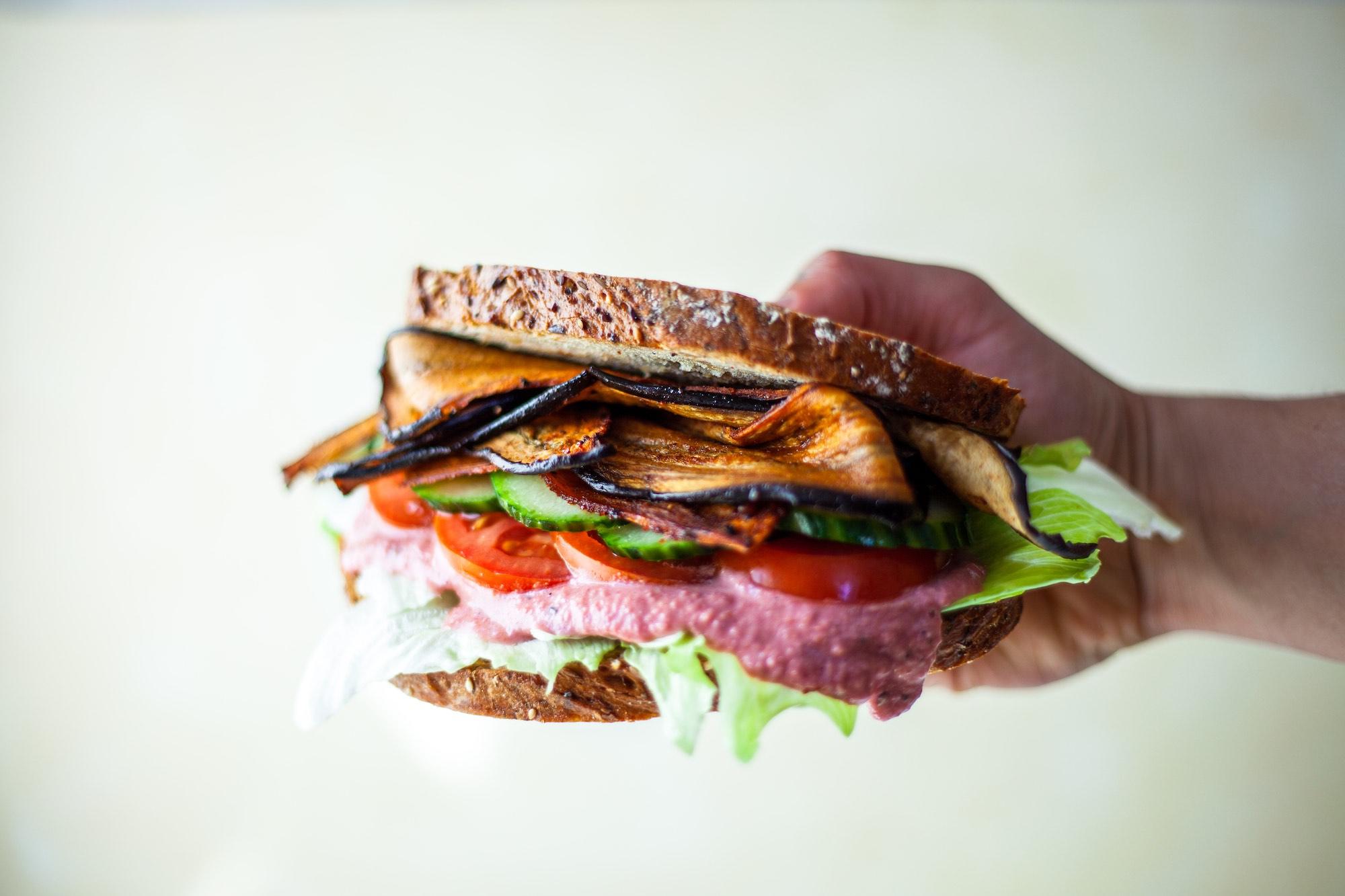 Aubergine Toasted Sandwich