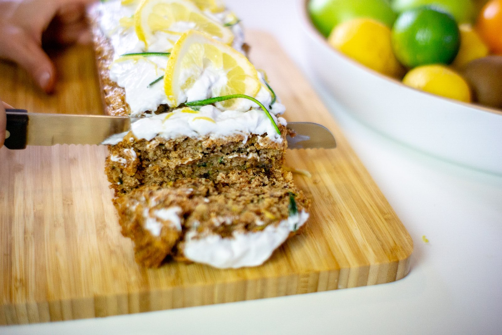 Vegan Lemon and Courgette Cake