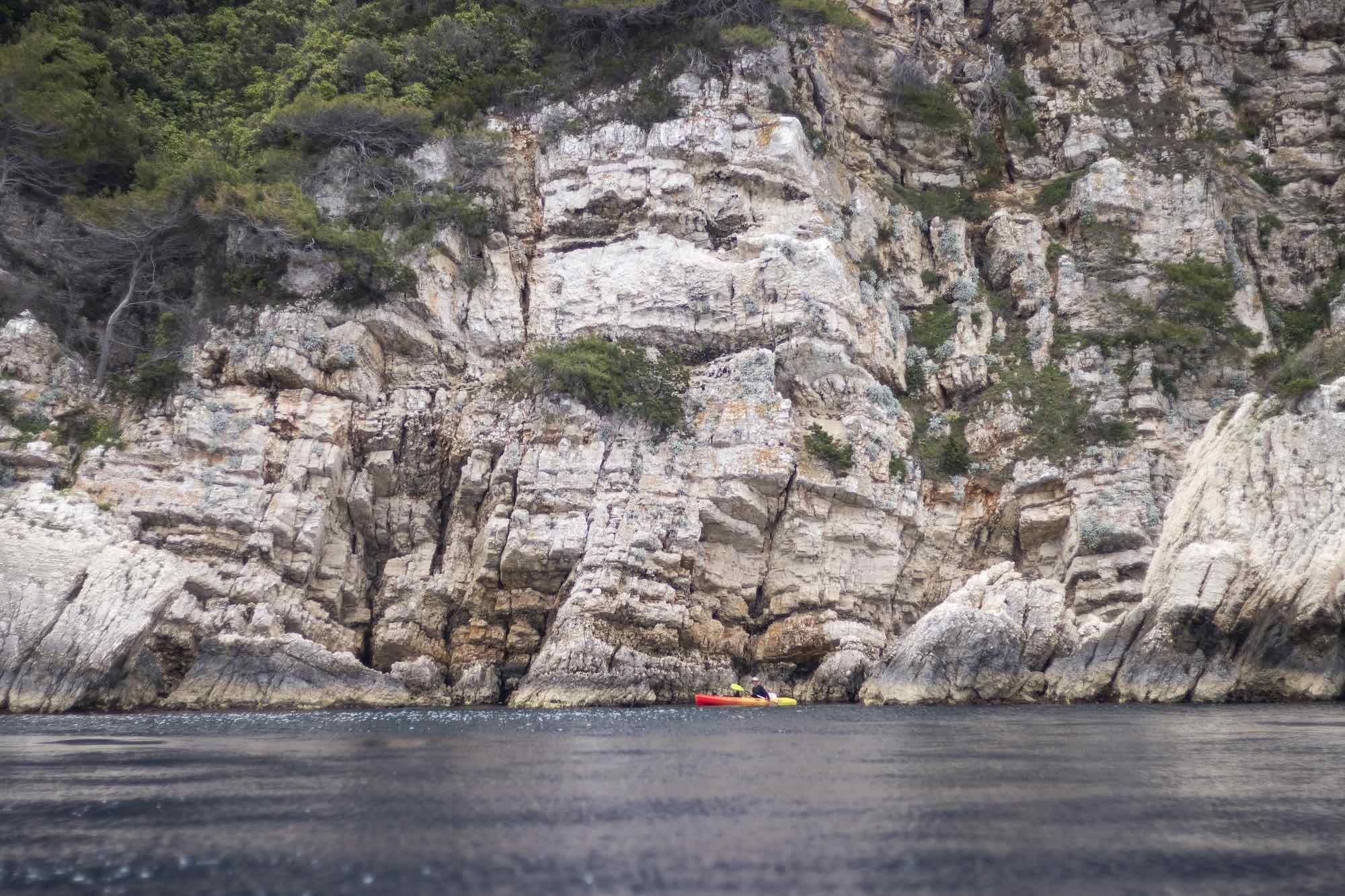 Kayaking tour on Vis Island Croatia with WearActive
