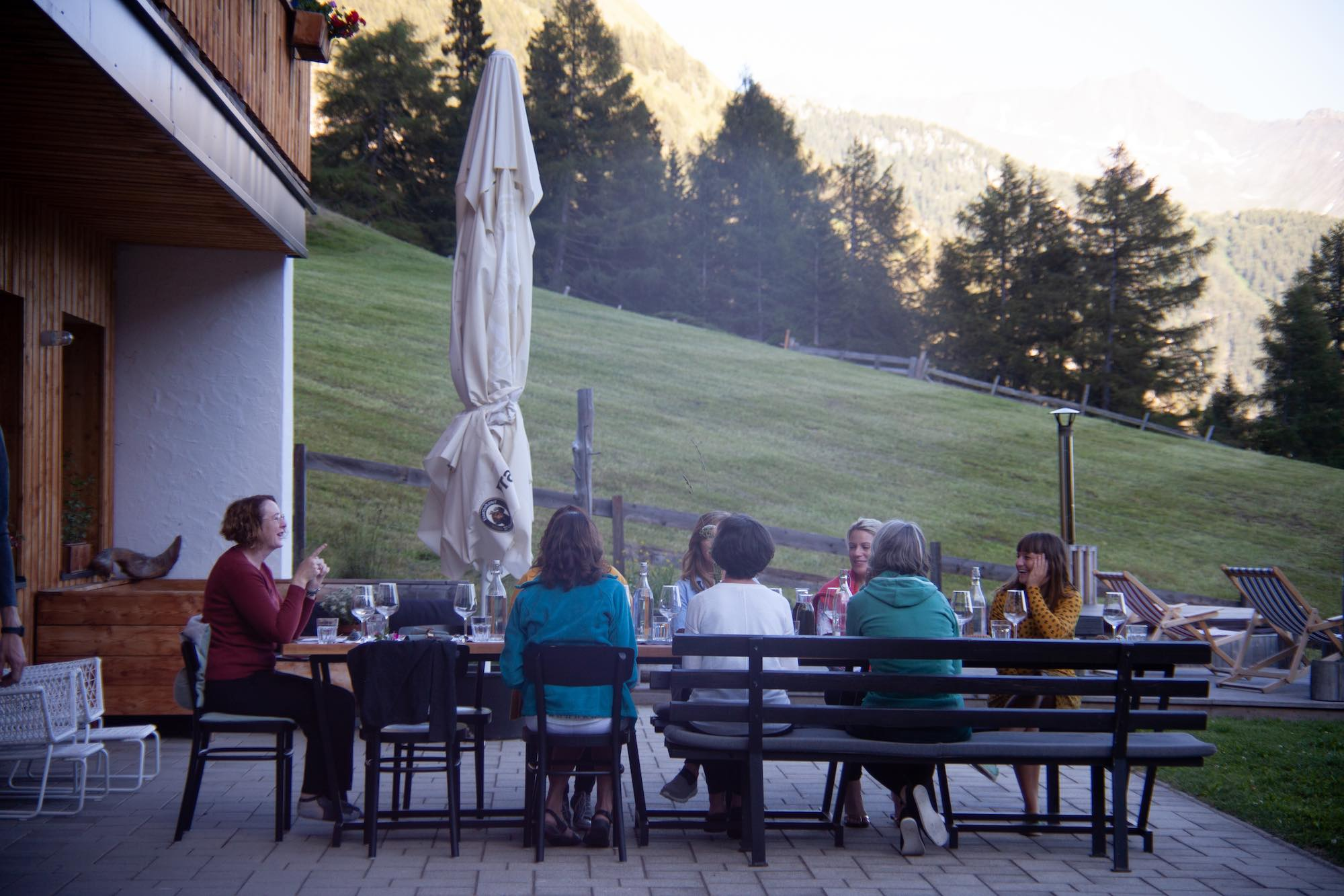 Plant based meals in the summer at MoaAlm MountainRetreat Austria