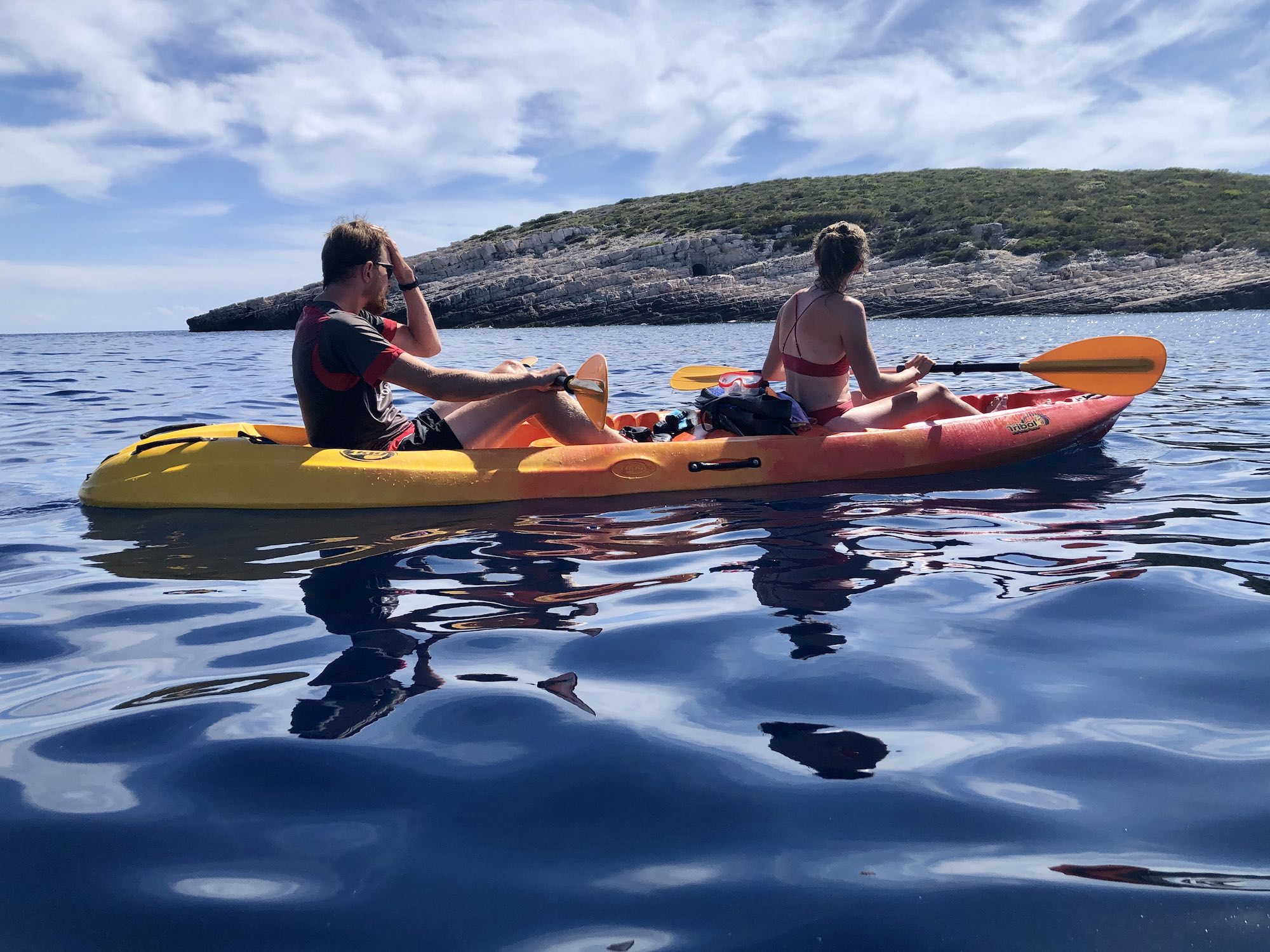 Kayaking on Vis Island Croatia
