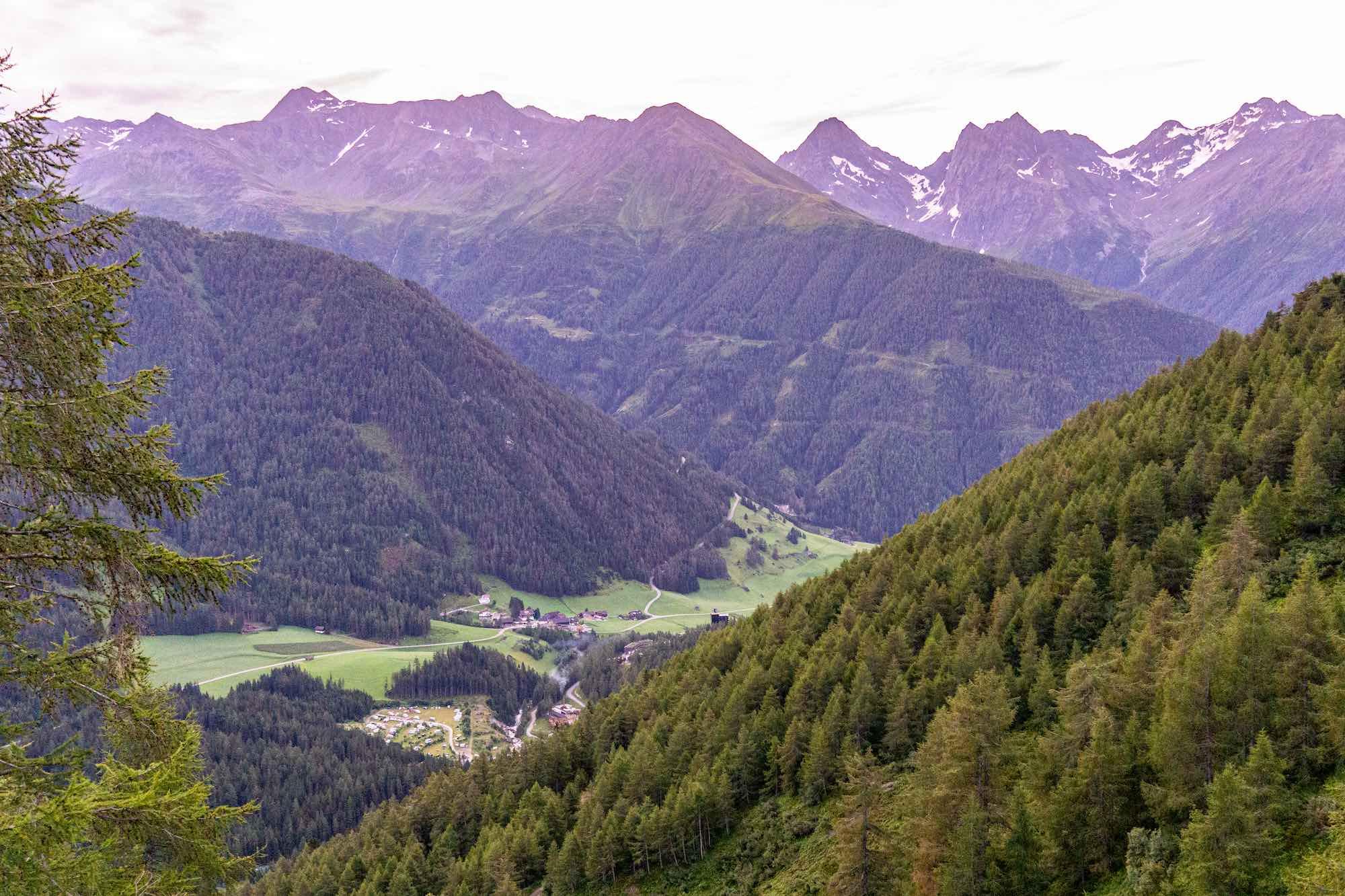 The valley of Kals Am Grossglockner