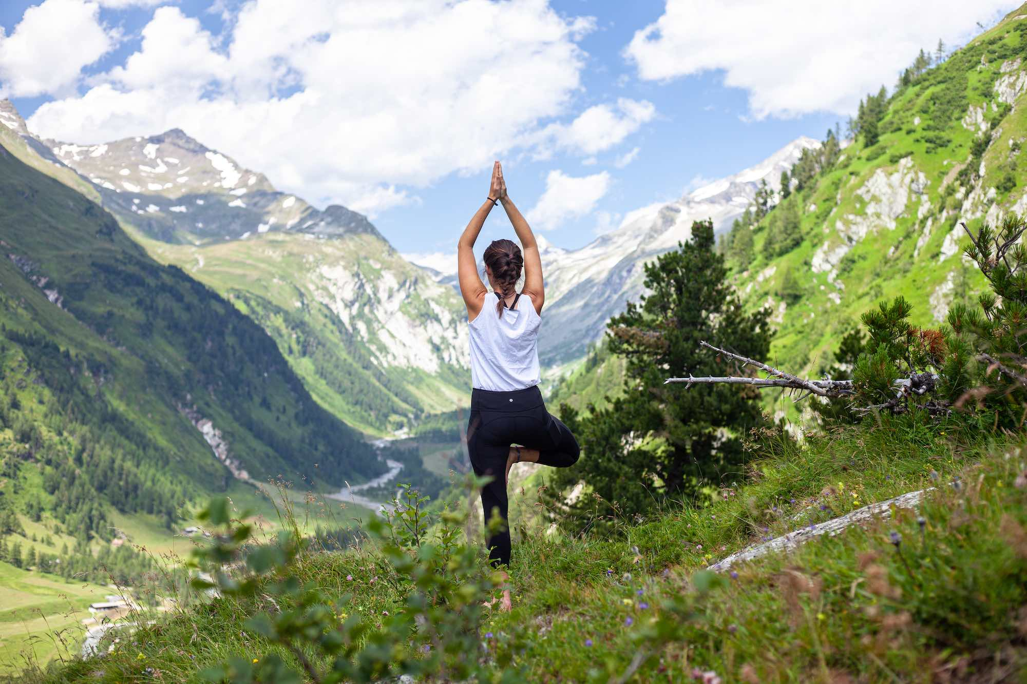 Yoga in the mountains at Kals Am Grossglockner