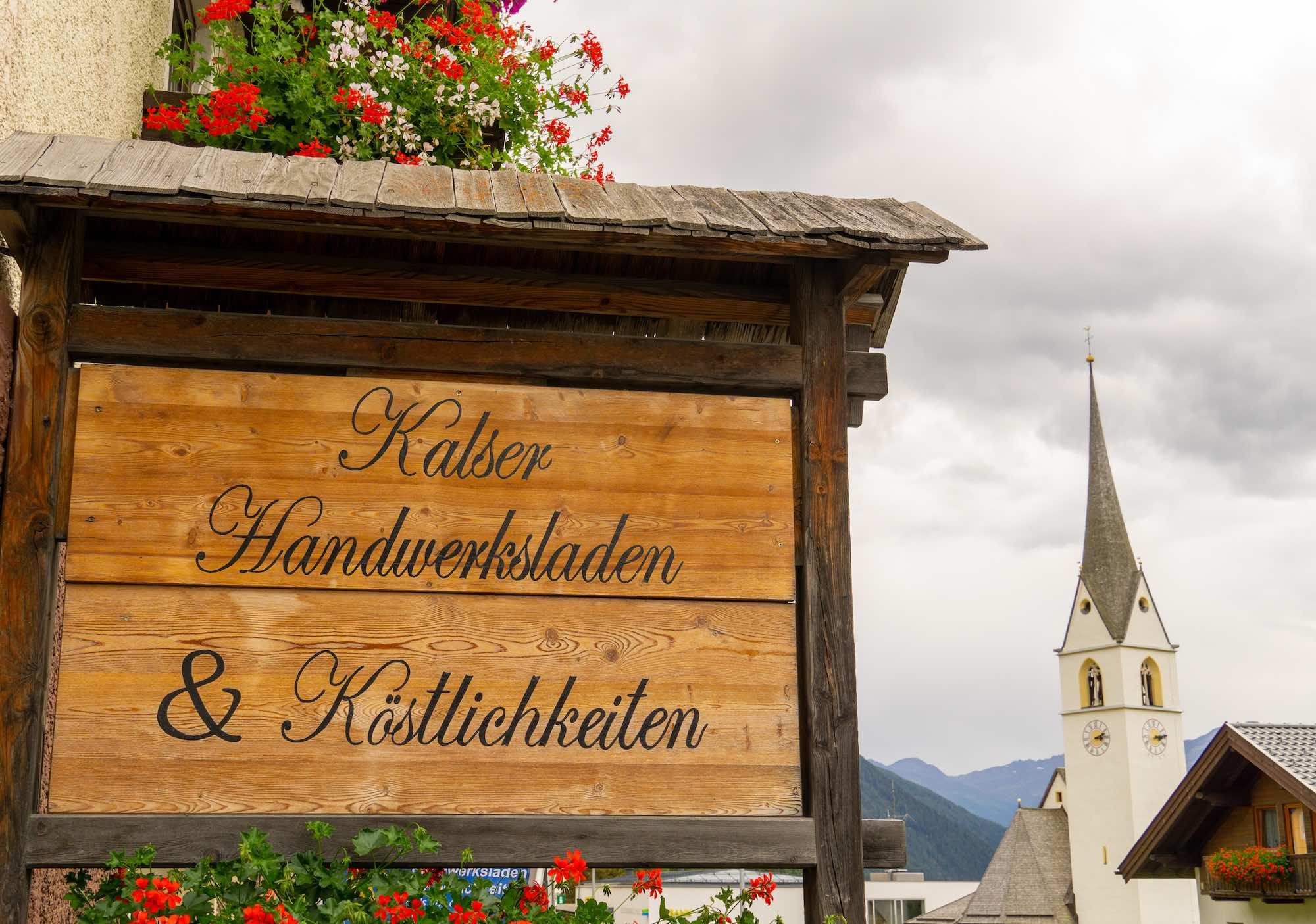 Kalser Handwerksladen, traditional craft shop Austria