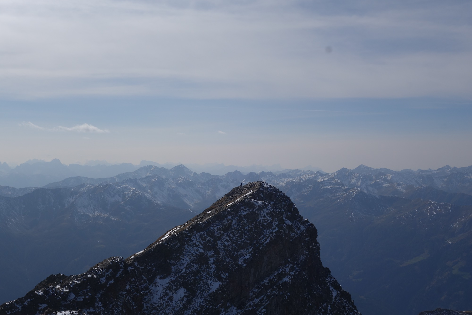Prijakt, a beautiful double peaked mountain in the remote Schobergruppe,