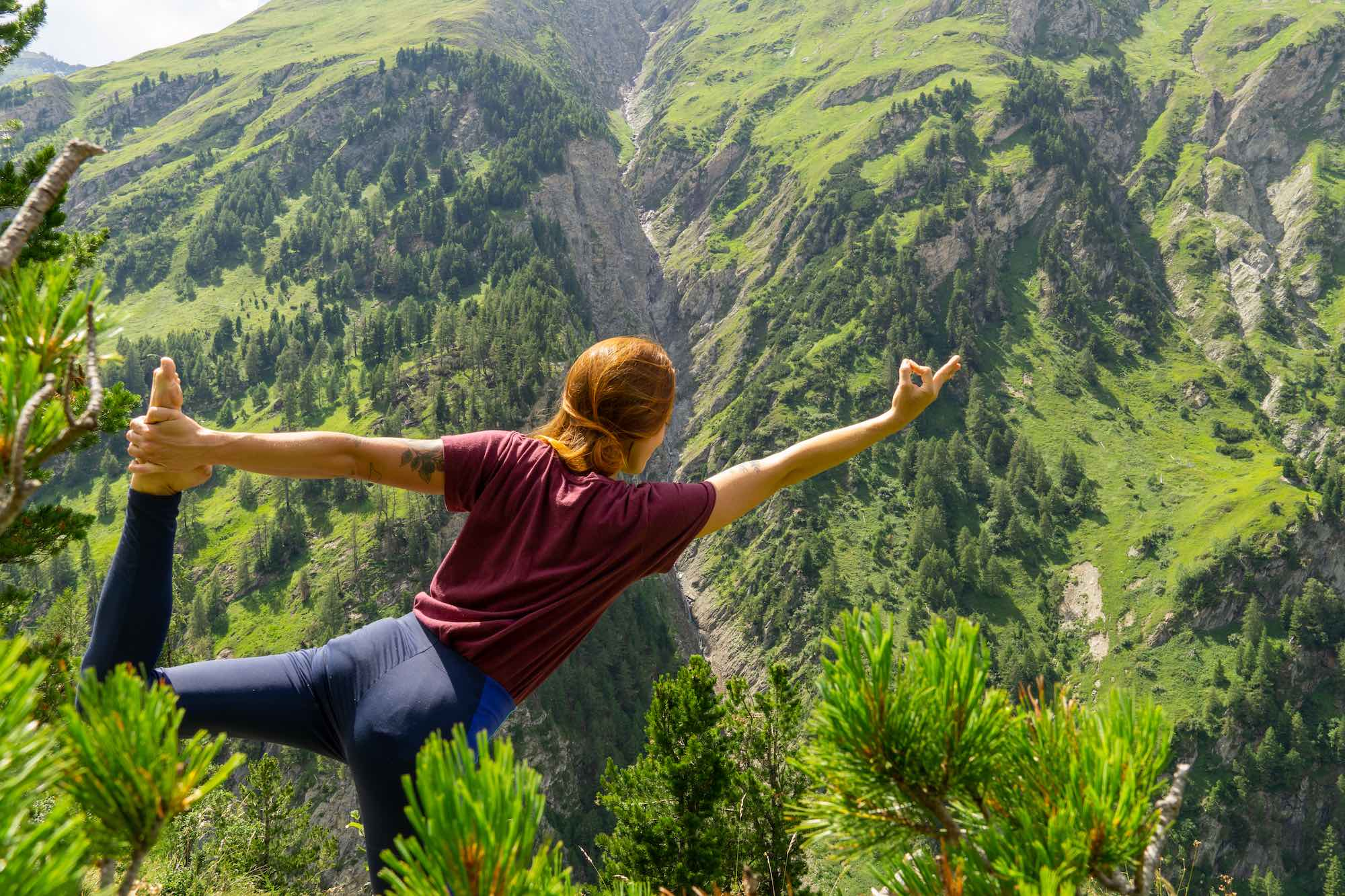 A yoga retreat in the Austrian Alps
