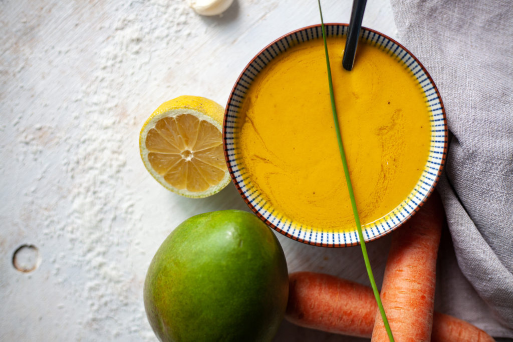 Vegan Carrot and Mango Soup