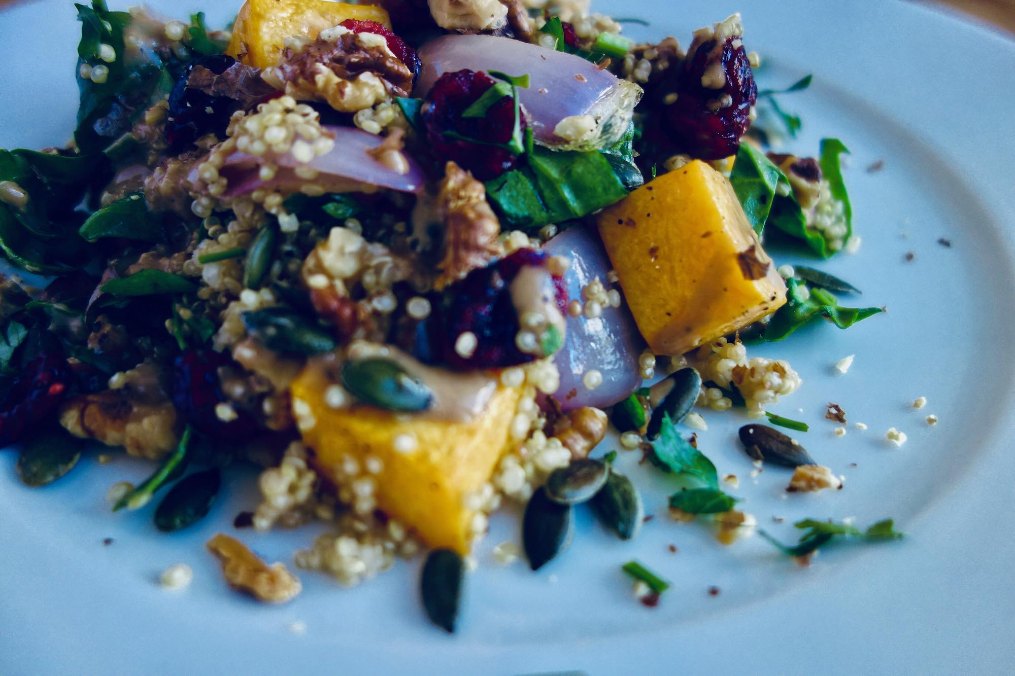 Quinoa with Butternut Squash and Walnut