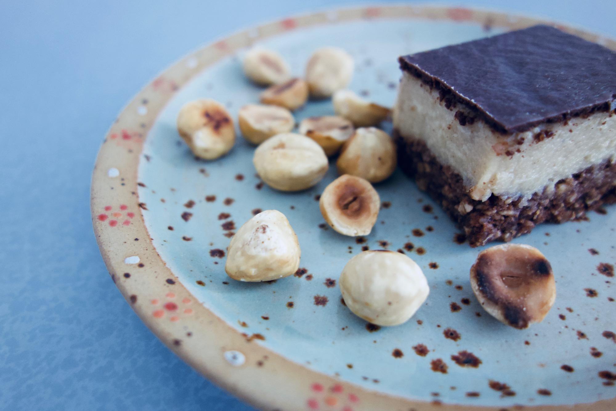 Silky vegan hazelnut cake