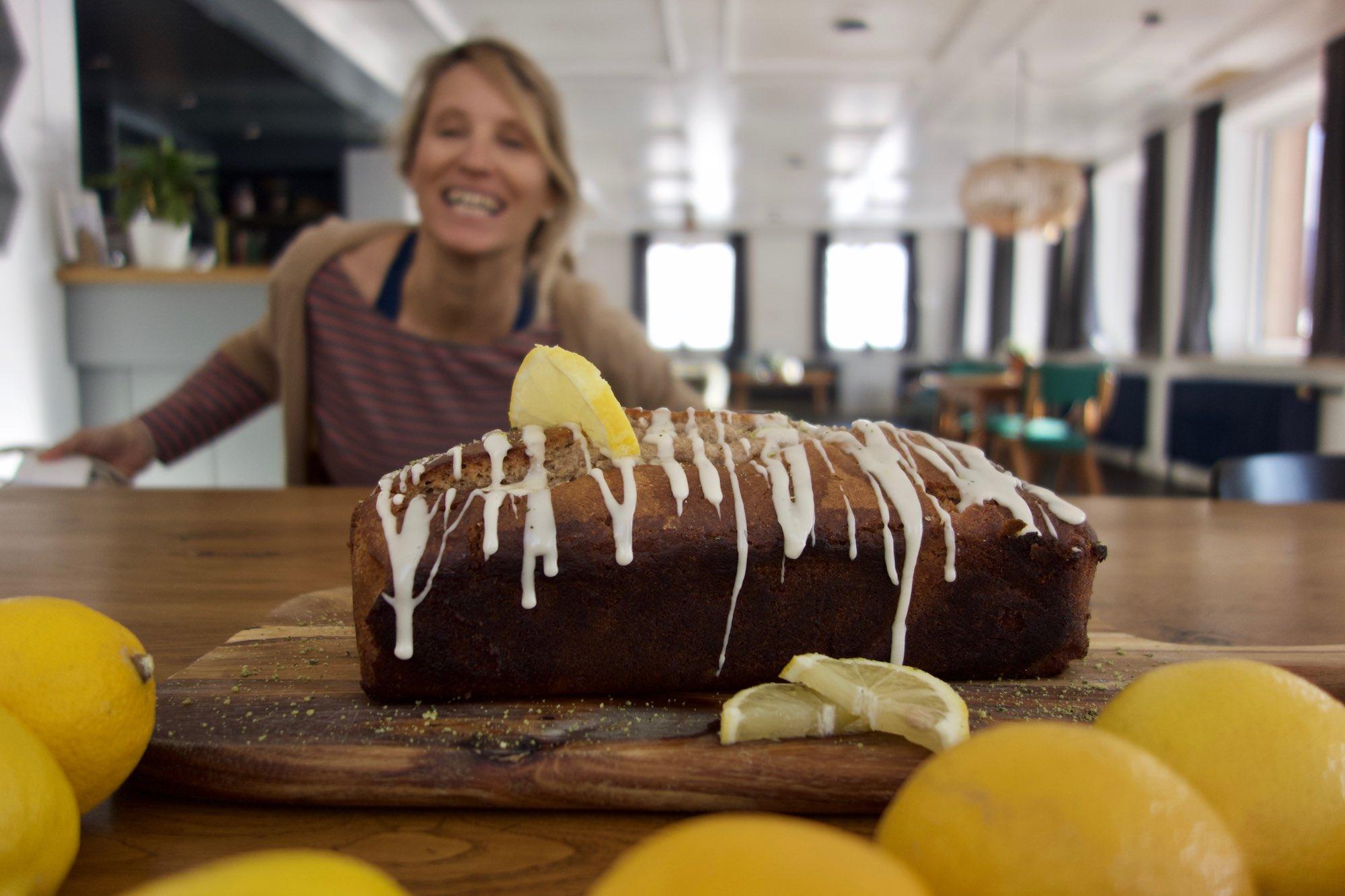 Vegan Lemon Drizzle Cake, MoaAlm Mountain Retreat