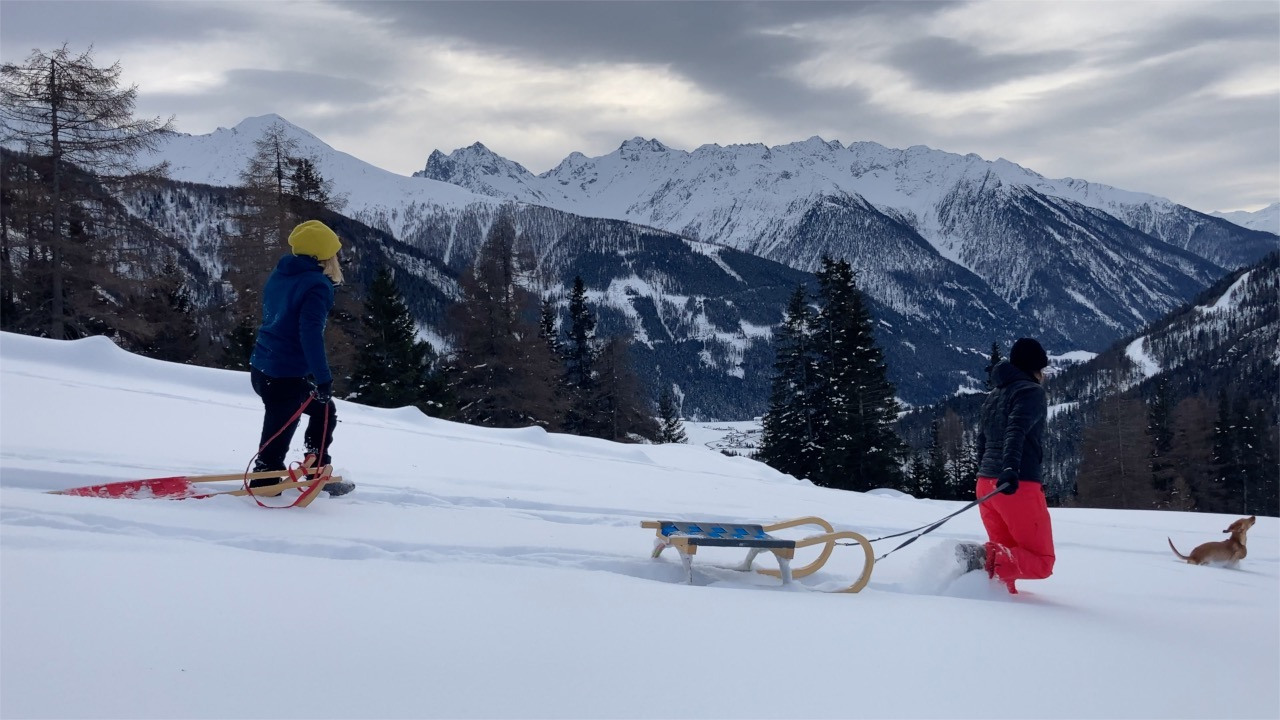 Rodel fun at MoaAlm Mountain Retreat, Osttirol Austria
