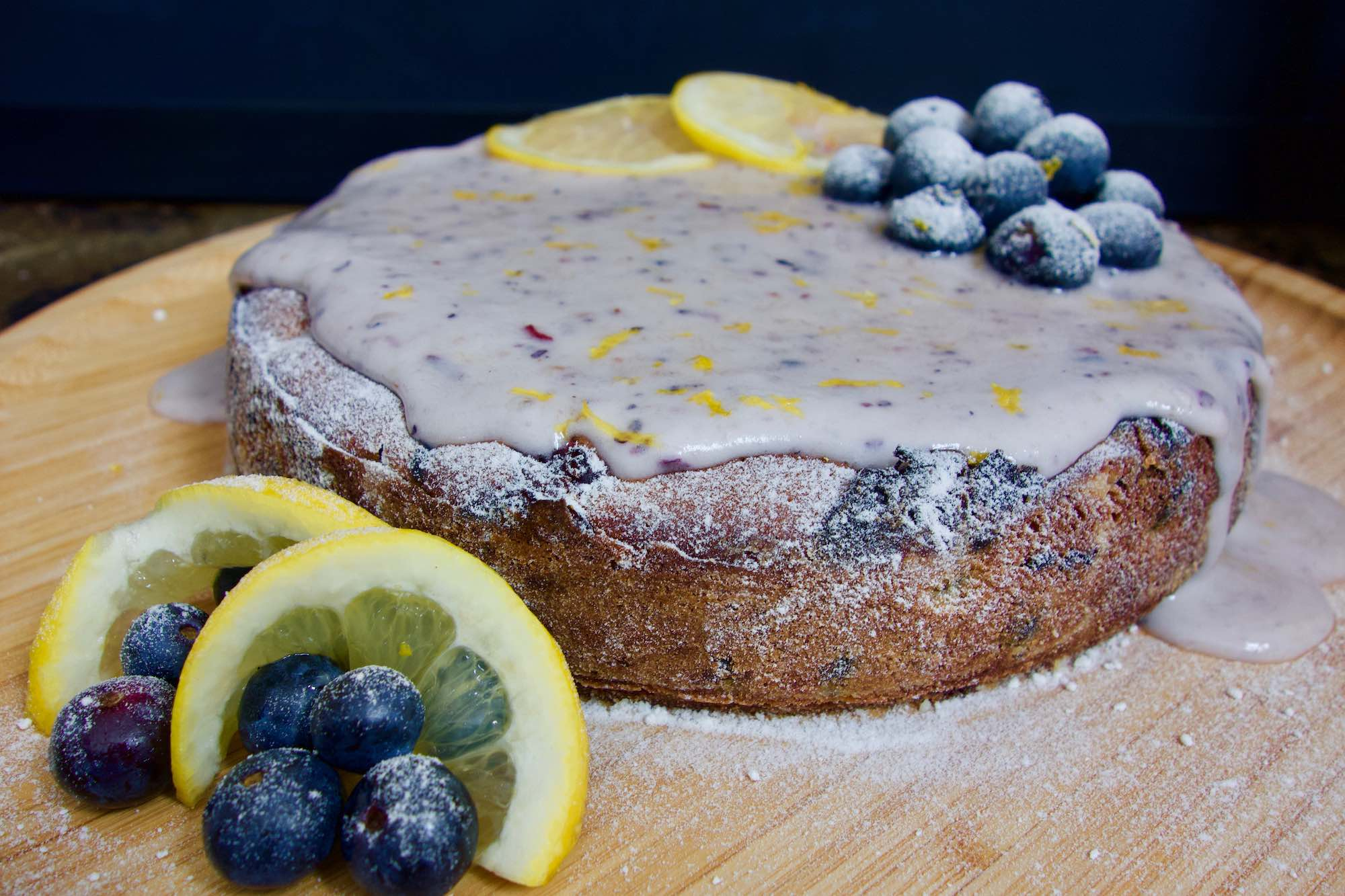 Vegan Lemon and Blueberry Cake