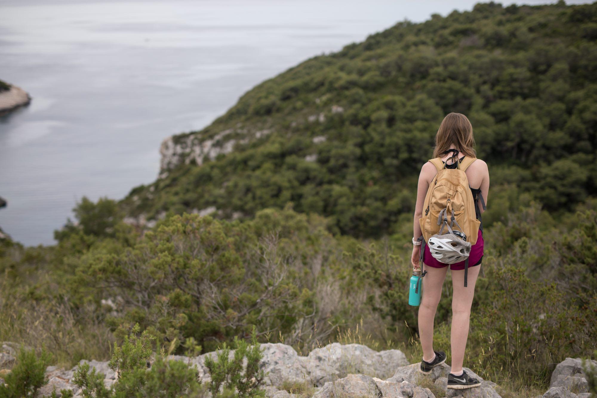 Hiking into Stiniva Bay, Vis Island Croatia