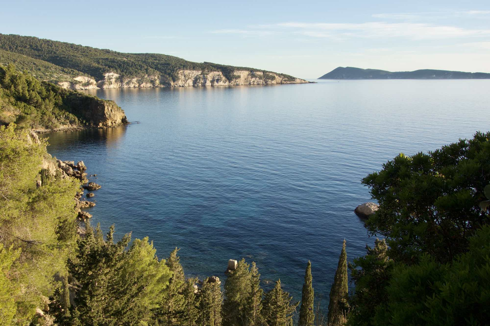 The Hike down to Novo Posta Bay, Vis Island Croatia
