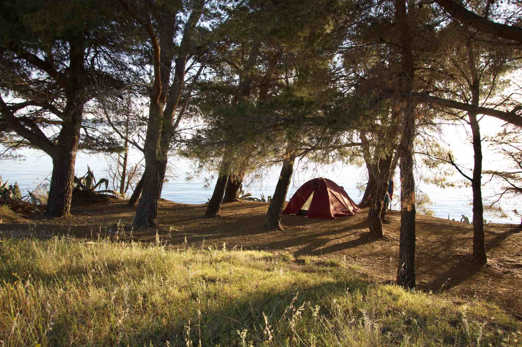 Camping on Vis Island, Croatia