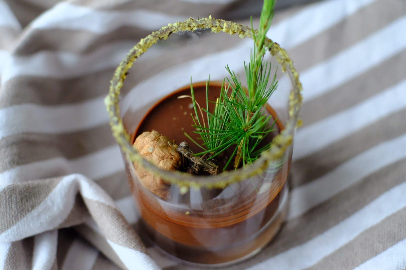 Lemon and Pine Chocolate Mousse