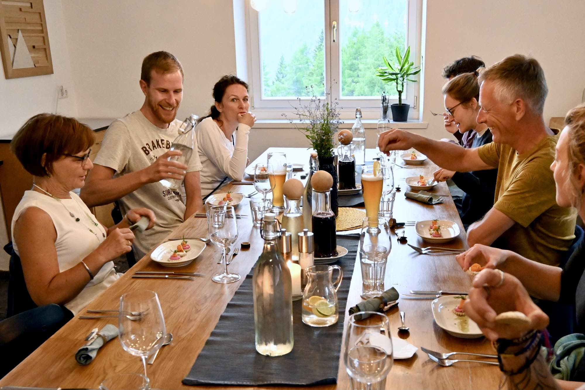 Plant Based Meal in Austria at MoaAlm Mountain Retreat