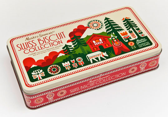 Christmas Biscuit Packaging Design