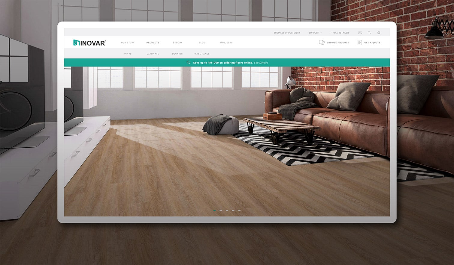 Unique Ecommerce Website Flooring Business