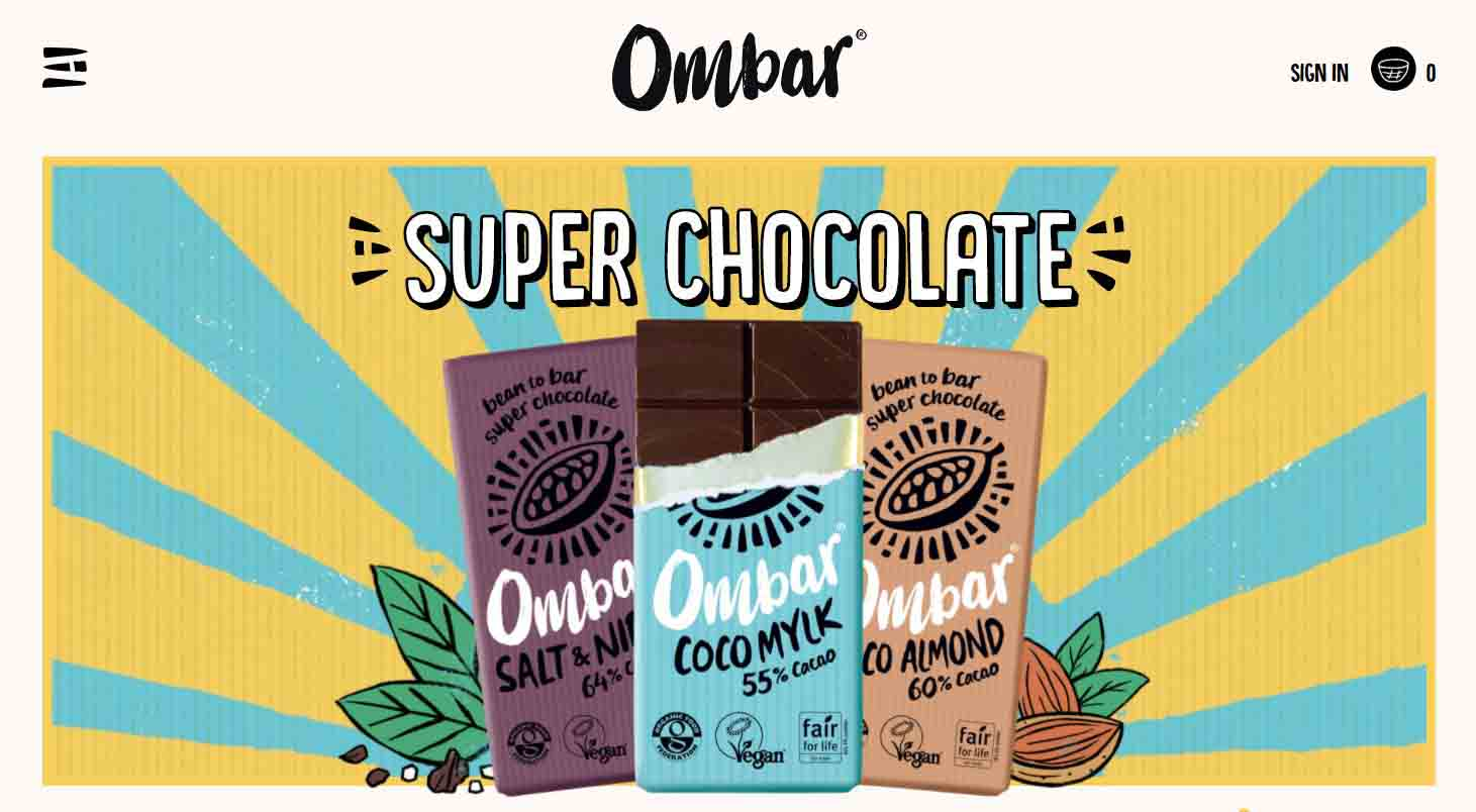 Custom-Built Website Chocolate Business