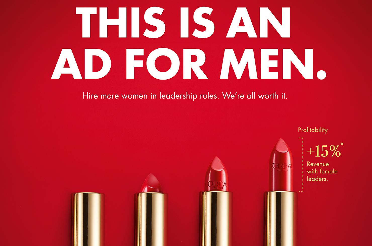 McCANN und L'Oréal Paris machen Werbung für Männer am Weltfrauentag