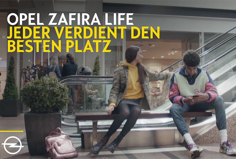"""""""Jeder verdient den besten Platz"""" VELOCITY McCANN launcht Kampagne für den neuen Opel Zafira Life"""