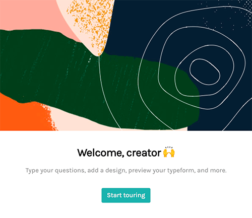 typeform welcome flow