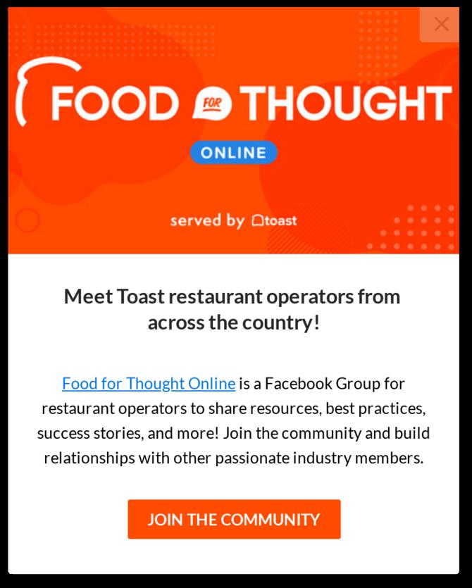 toast feedback survey flow