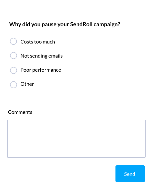 adroll feedback survey flow