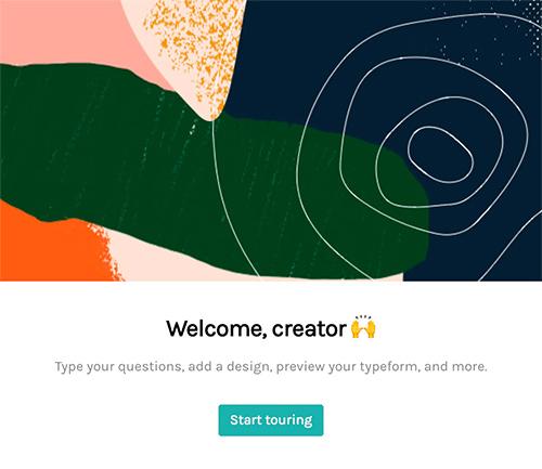 typeform welcome flow