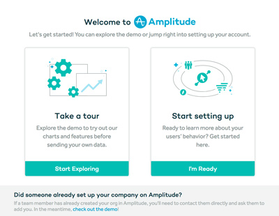 amplitude welcome slide