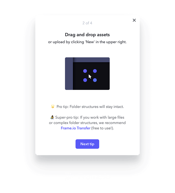 An image of a flow from Frame.io