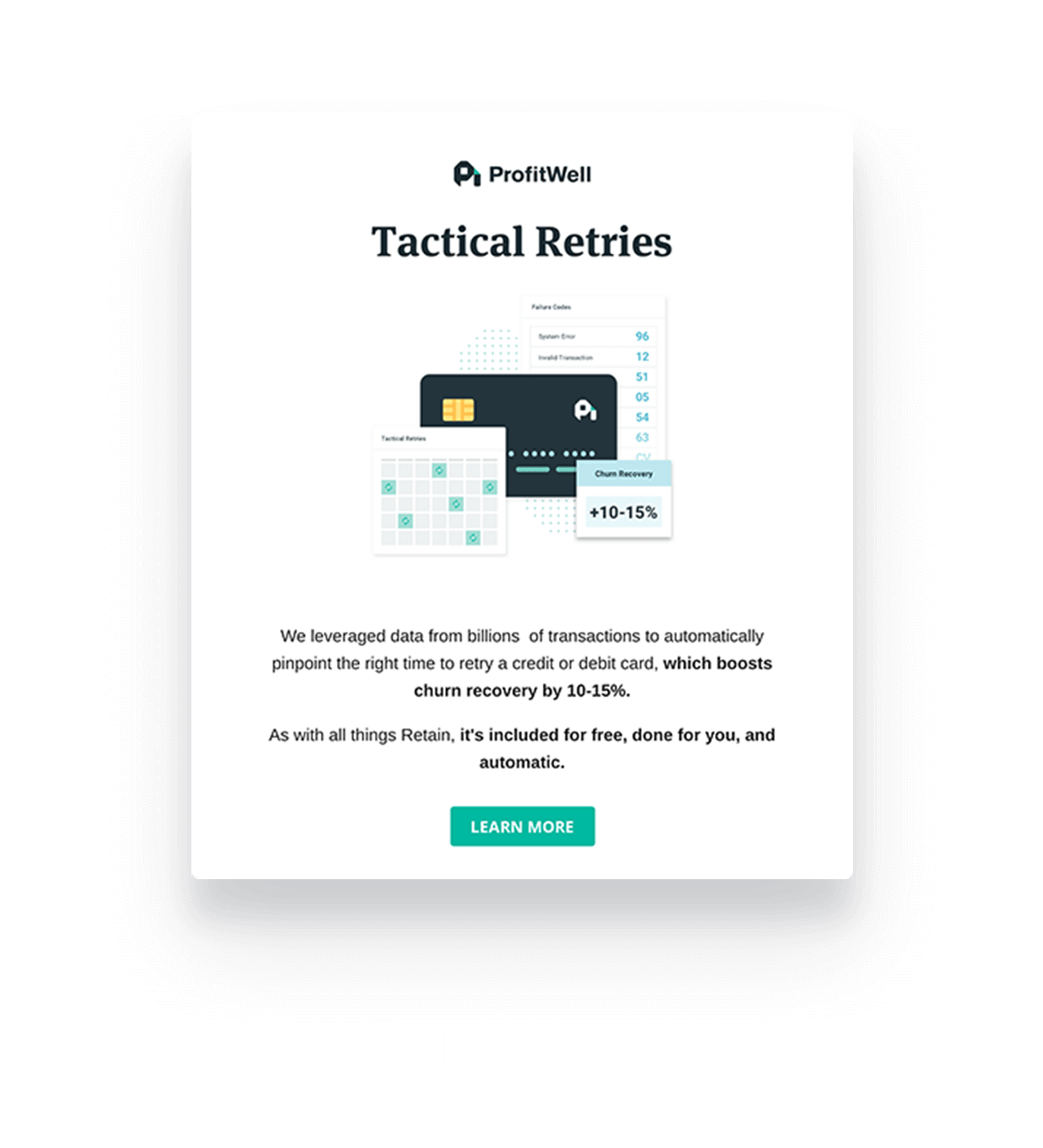 Profitwell modal made using Appcues