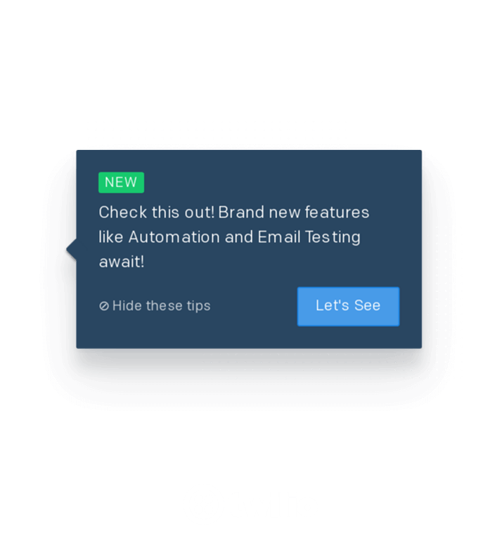 Twilio tooltip made using Appcues
