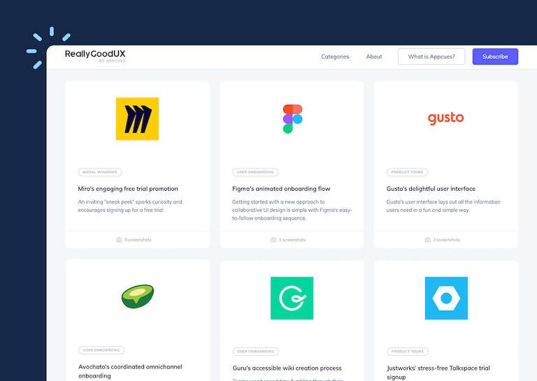 Picture of ReallyGoodUX homepage