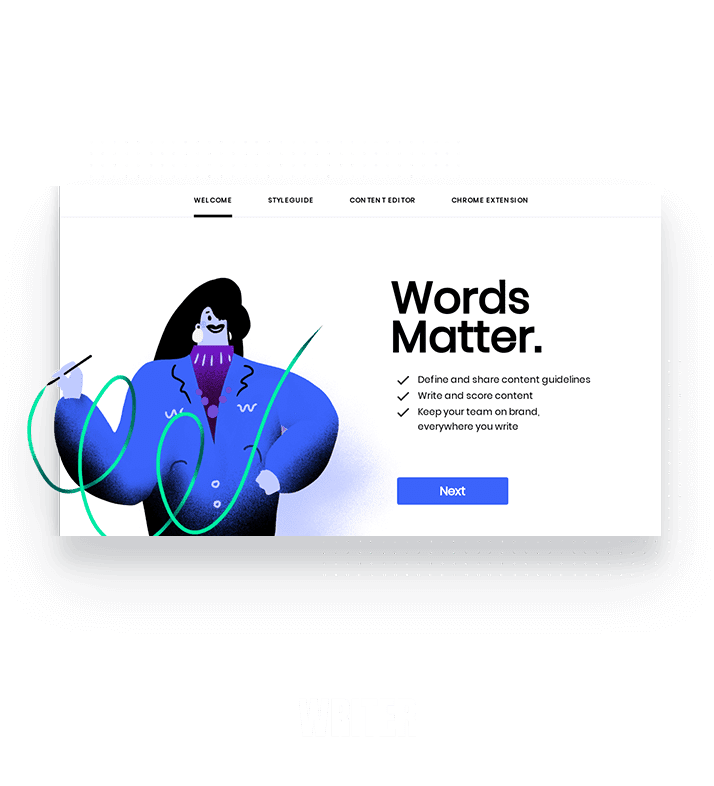 Writer modal created within Appcues