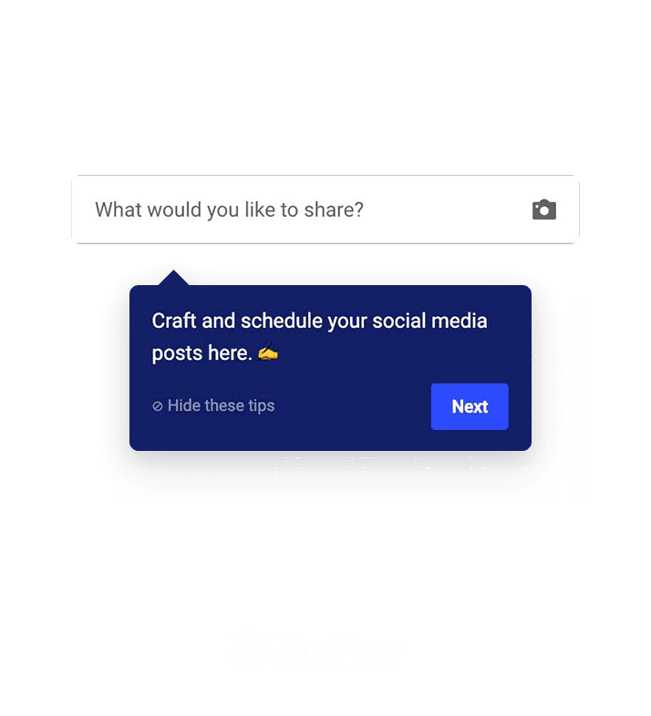 Buffer tooltip created using Appcues