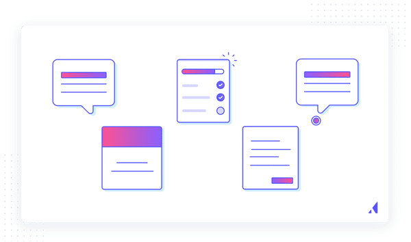 Popular user onboarding UI patterns include tooltips, modals, slideouts, checklists, and hotspots.