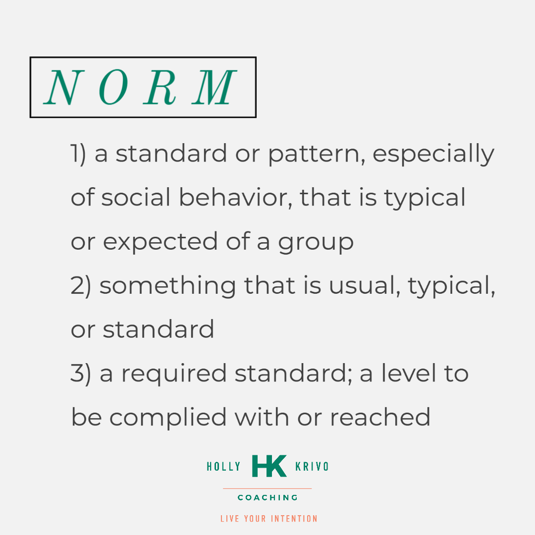 Norm - Expectations. Typical. A Required Standard.