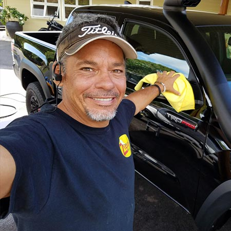 Steven Schwartz, team member of Zippy Klean Mobile Auto Detailing