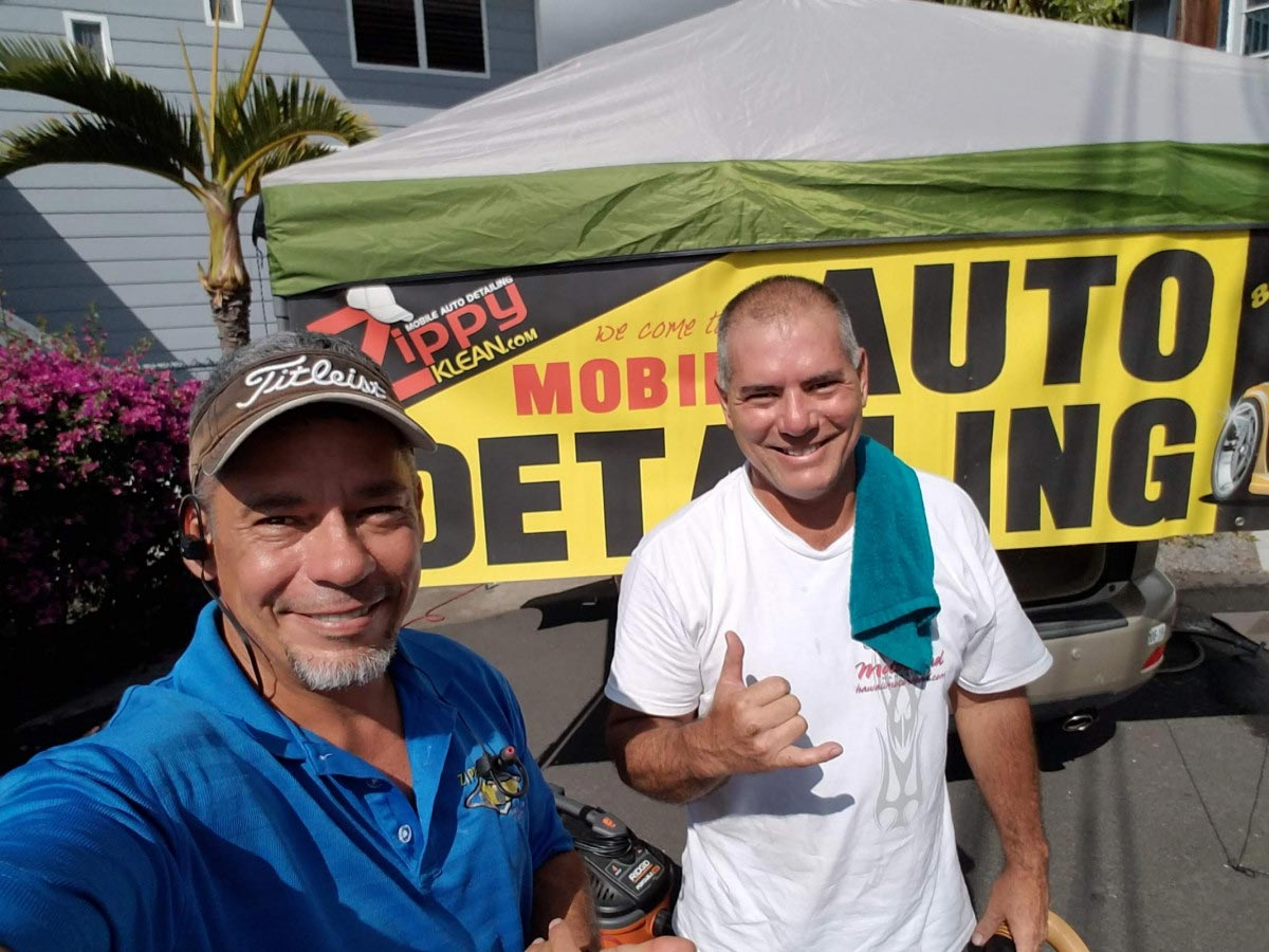 Steven and Nelson Ray Parker, team members of Zippy Klean Mobile Auto Detailing