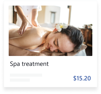 Spa treatment card image