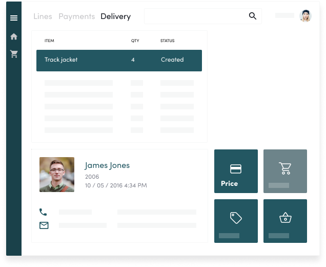 Microsoft Dynamic 365 for retail interface image