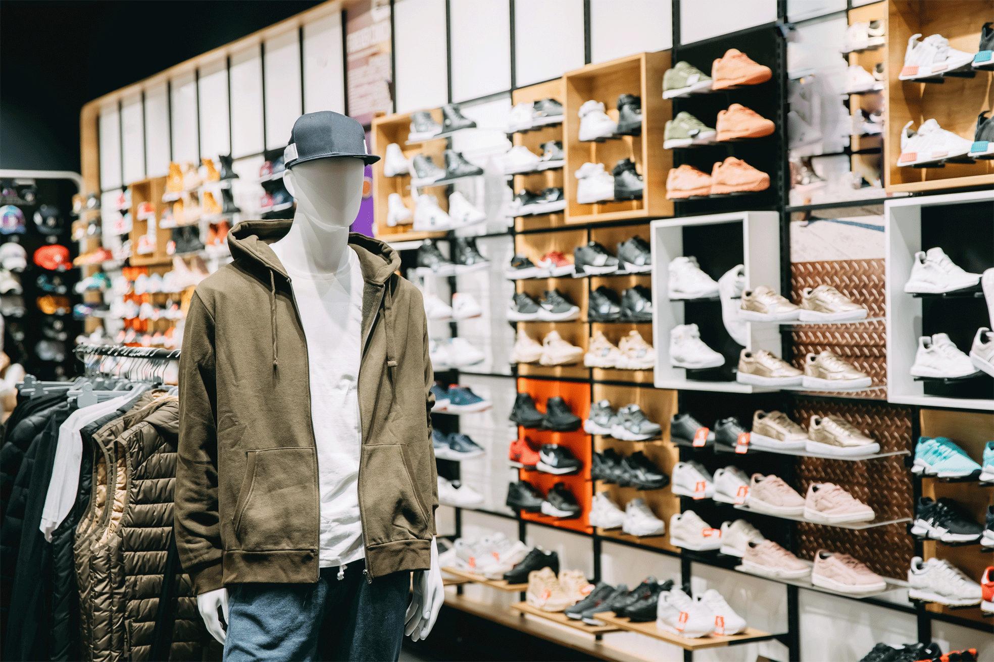 Retail store with shoe section image
